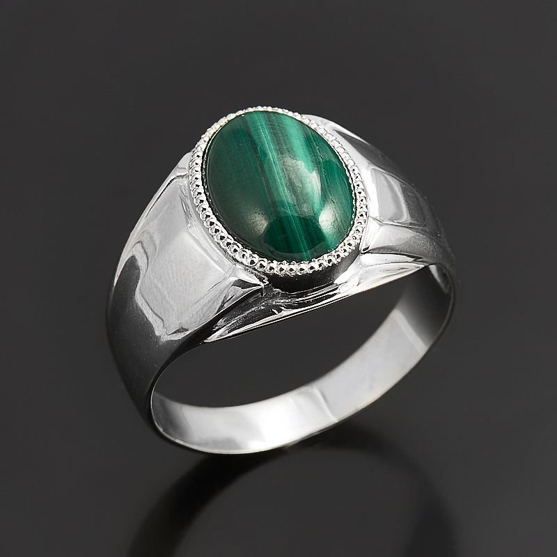 Кольцо малахит  (серебро 925 пр.) размер 21 кольцо малахит серебро 925 пр размер 17 5