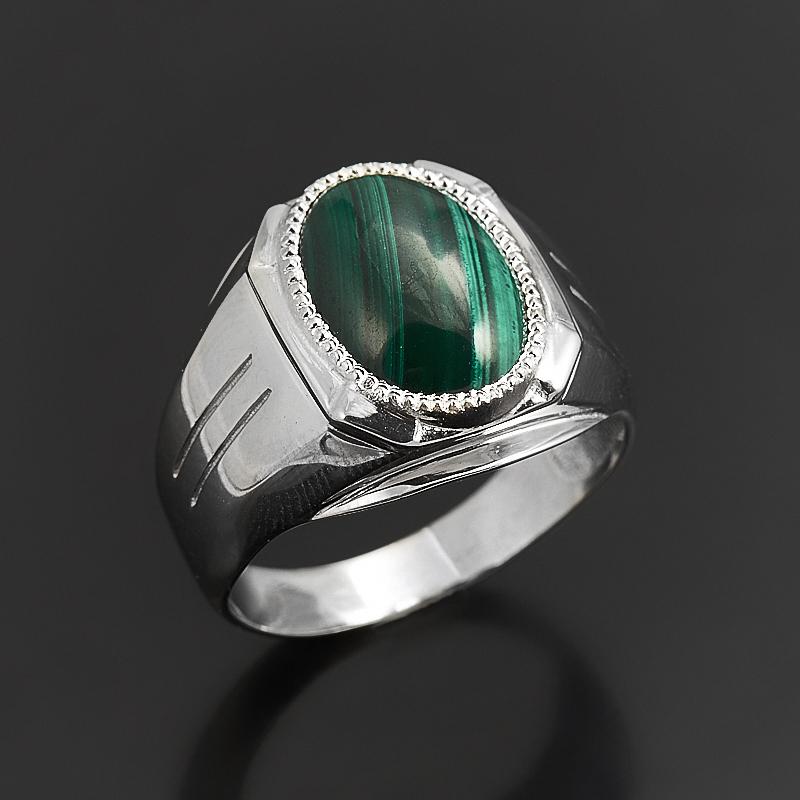 Кольцо малахит (серебро 925 пр.) размер 19