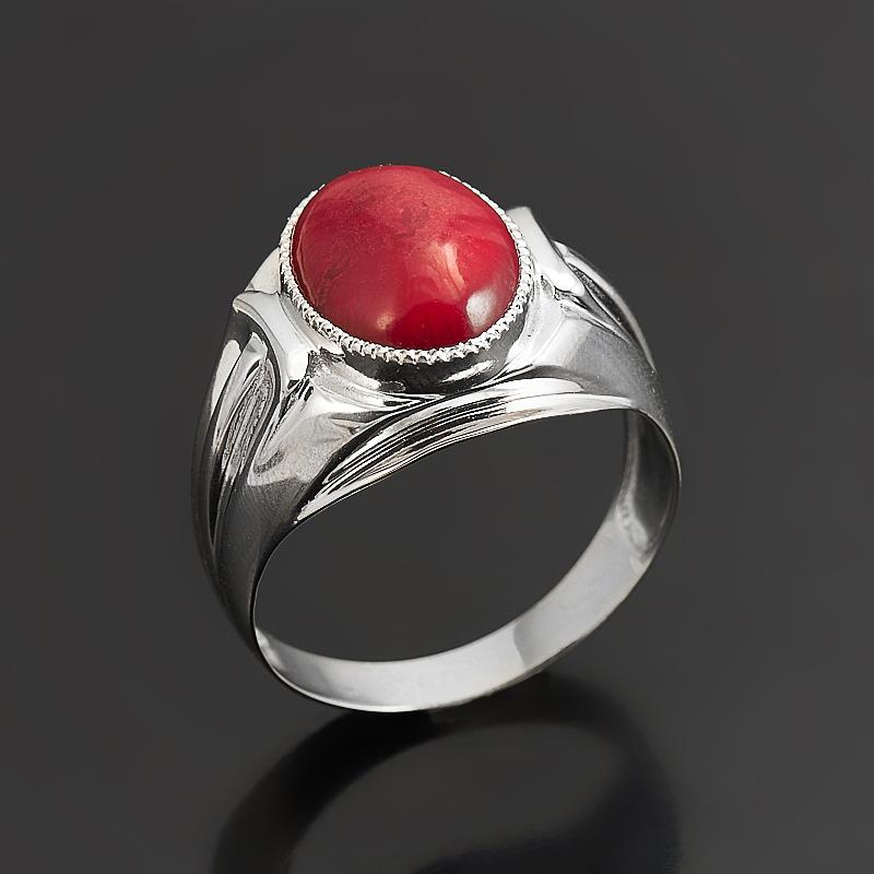 Кольцо коралл красный (серебро 925 пр.) размер 20 кольца колечки кольцо аскон им коралл