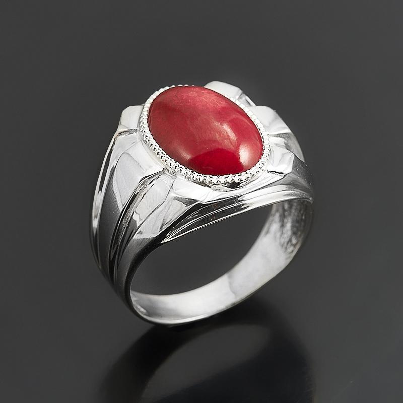 Кольцо коралл красный (серебро 925 пр.) размер 19