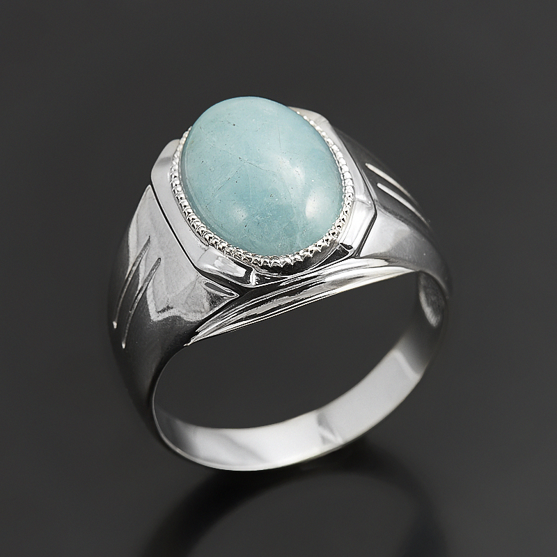 Кольцо аквамарин (серебро 925 пр.) размер 20,5 кольцо аквамарин серебро 925 пр размер 17 5