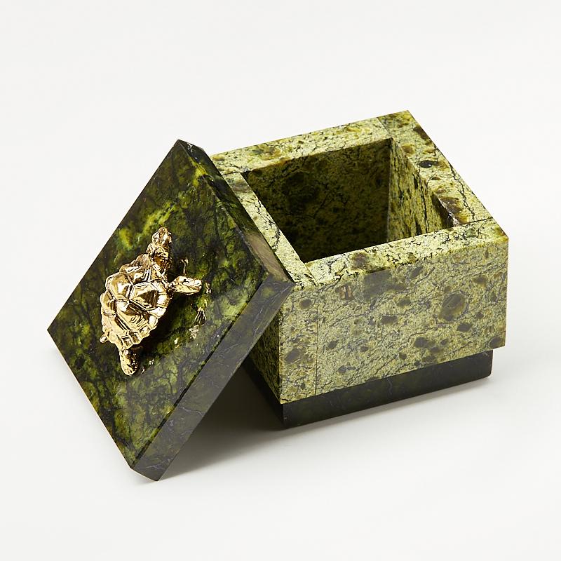 Шкатулка змеевик Россия 5,5х5,5х6 см