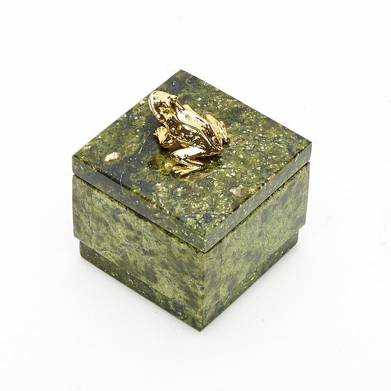 Шкатулка змеевик Россия 5,5х5,5х6,5 см