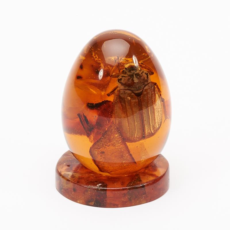 Яйцо на подставке янтарь пресс 4 см яйцо декоративное бтм неувядаемый цвет 4 на подставке