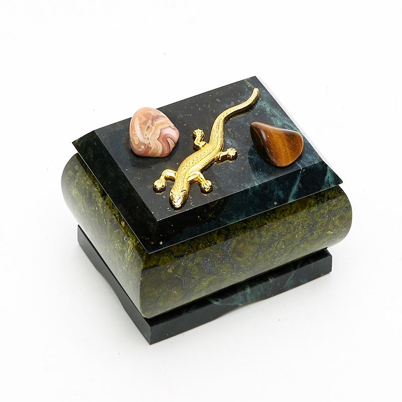 Шкатулка змеевик 7х5,5х5 см