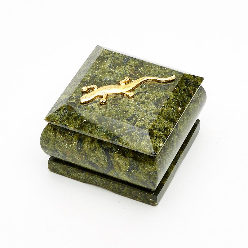 Шкатулка змеевик 6,5х6,5х5 см