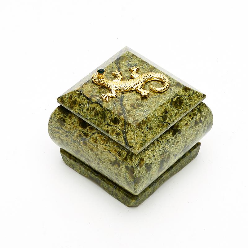 Шкатулка змеевик 6х5,5х5,5 см шкатулка змеевик родонит 4 5х4 5х3 5 см