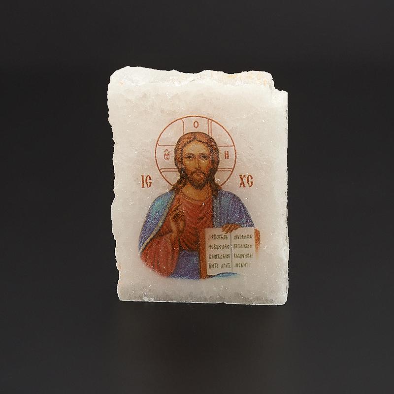 Срез с изображением Иисус Христос селенит  3,5х4,5 см