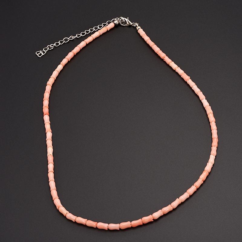 Бусы коралл розовый  46-54 см авторские бусы кахолонг прес коралл хрусталь лима