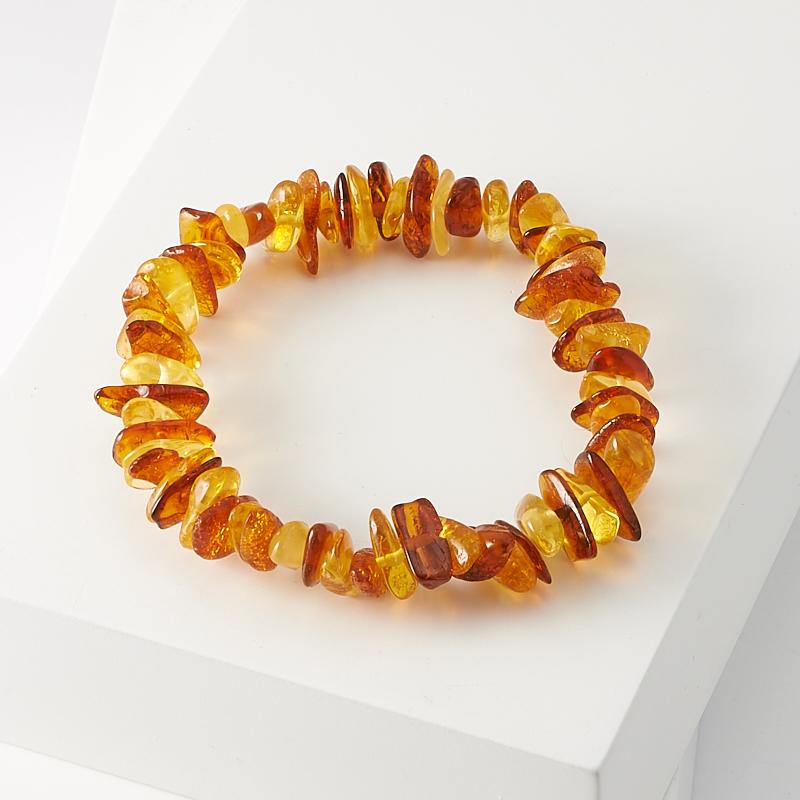Браслет янтарь  15 см