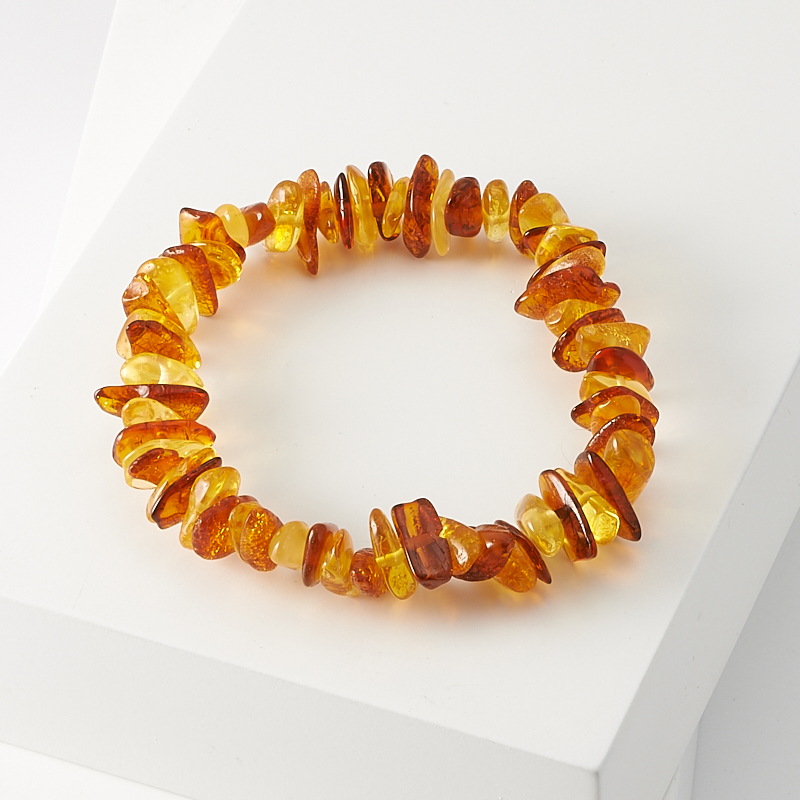 Браслет янтарь  16 см