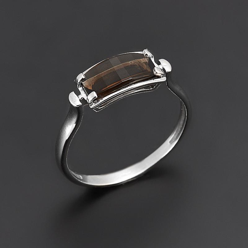 Кольцо раухтопаз  огранка (серебро 925 пр.) размер 17,5