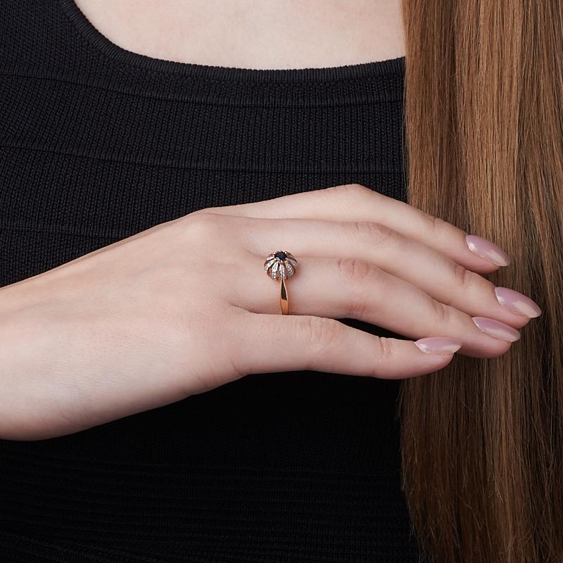 Кольцо изумруд Колумбия огранка (золото 585 пр.) размер 17
