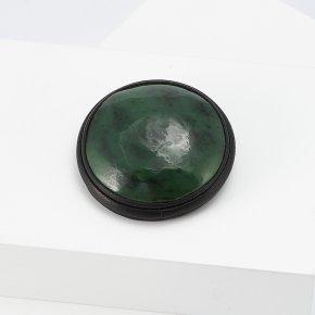 Брошь нефрит зеленый Россия (натуральная кожа)