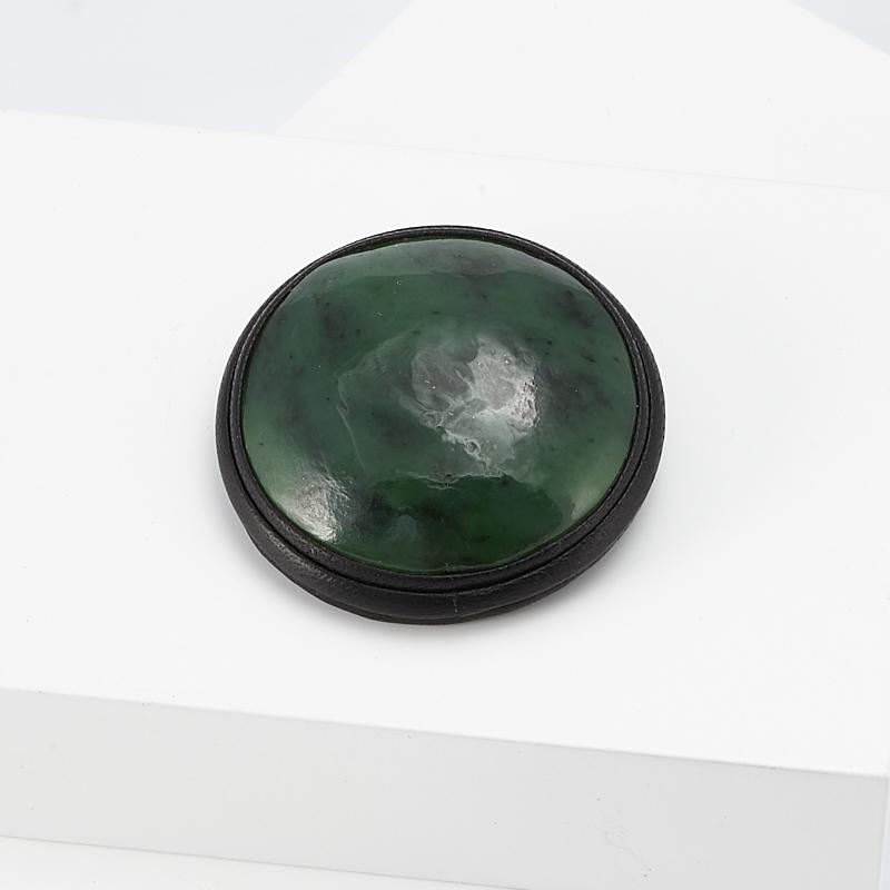 Брошь нефрит зеленый (натуральная кожа) браслет классика 8 нефрит револю