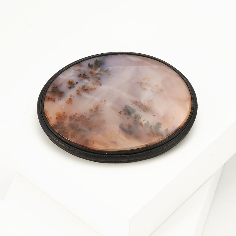 Брошь агат пейзажный (натуральная кожа) подвеска агат пейзажный натуральная кожа