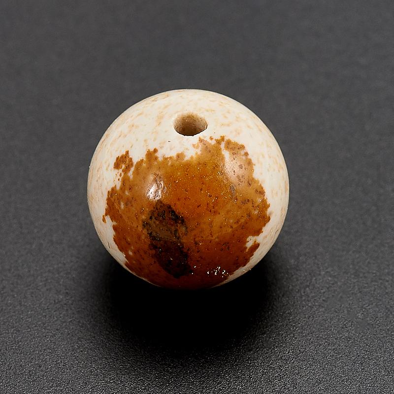 Бусина яшма рисунчатая  шарик 12 мм (1 шт) бусина авантюрин зеленый шайба 6 6 5 мм 1 шт