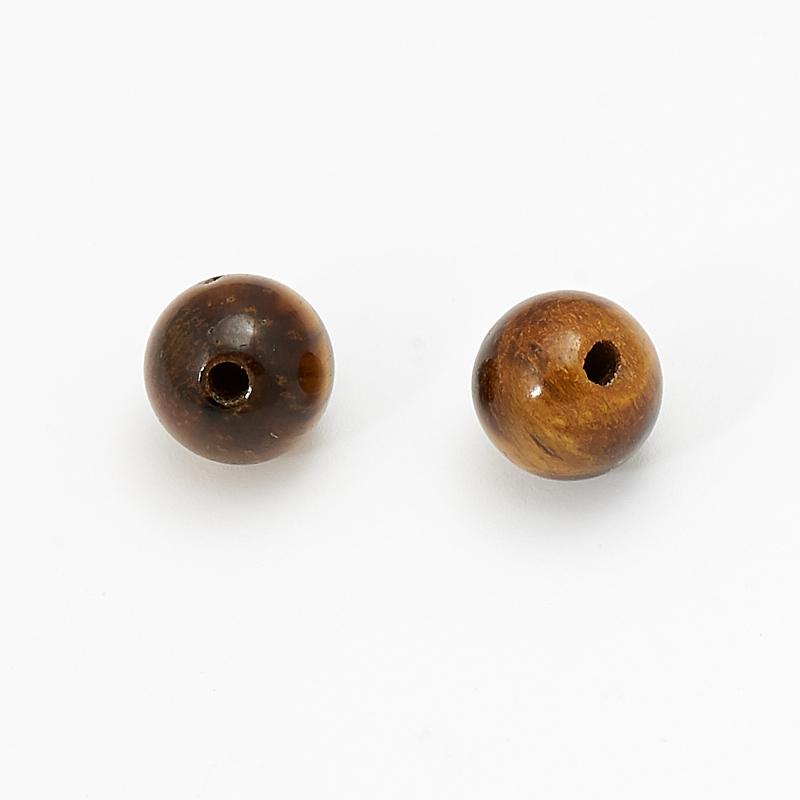 Бусина тигровый глаз шарик 6-6,5 мм (1 шт) бусина агат серый шарик 6 6 5 мм 1 шт