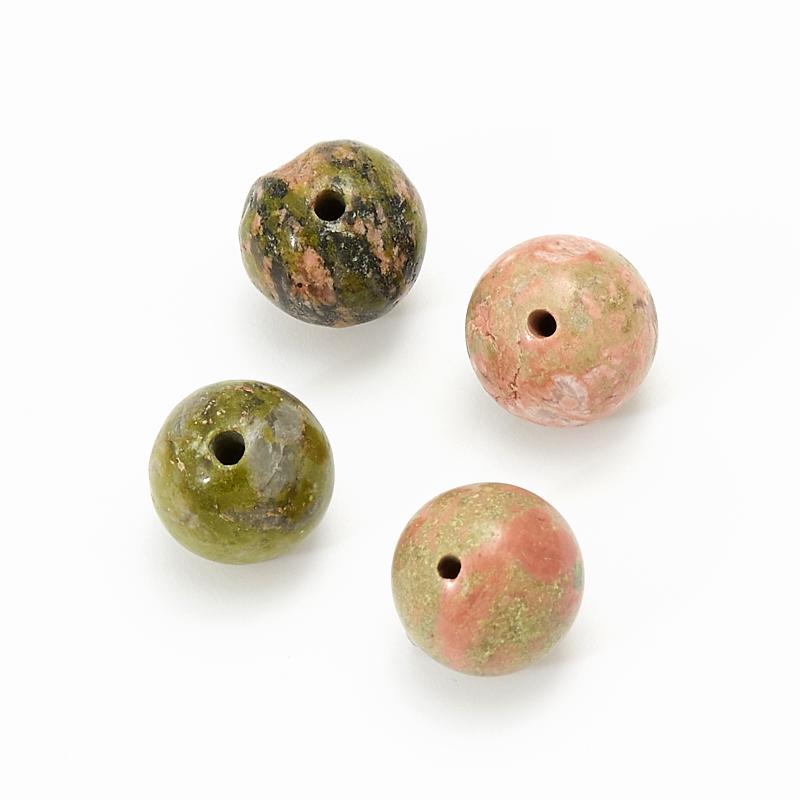 Бусина унакит шарик 8-8,5 мм (1 шт)