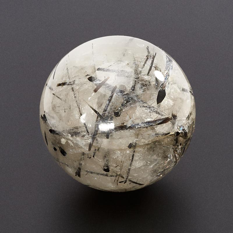 Шар кварц с турмалином  5 см магнитный браслет с турмалином где можно в перми