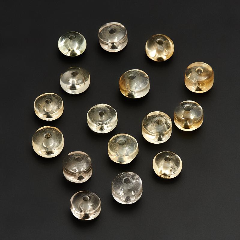 Бусина цитрин  сплюснутый шар 8 мм (1 шт) бусина сердолик светлый прозрачный сплюснутый шар 6 5 мм 1 шт