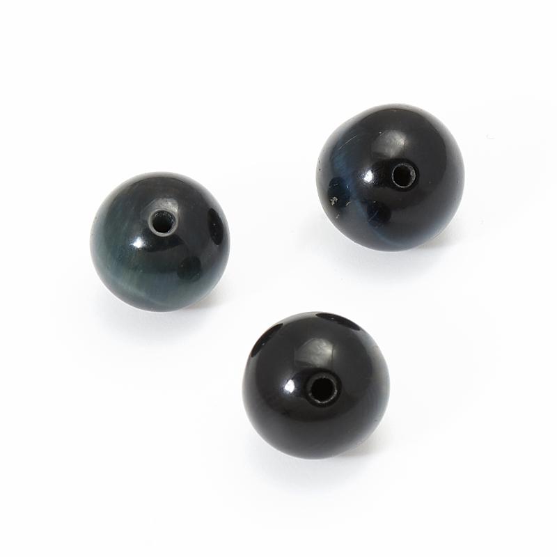 Бусина соколиный глаз  шарик 10 мм (1 шт) бусина авантюрин зеленый шайба 6 6 5 мм 1 шт