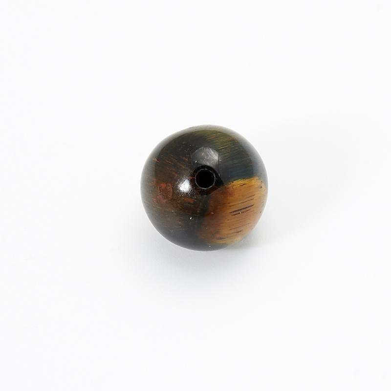 Бусина тигрово-соколиный глаз  шарик 10 мм (1 шт) бусина авантюрин зеленый шайба 6 6 5 мм 1 шт