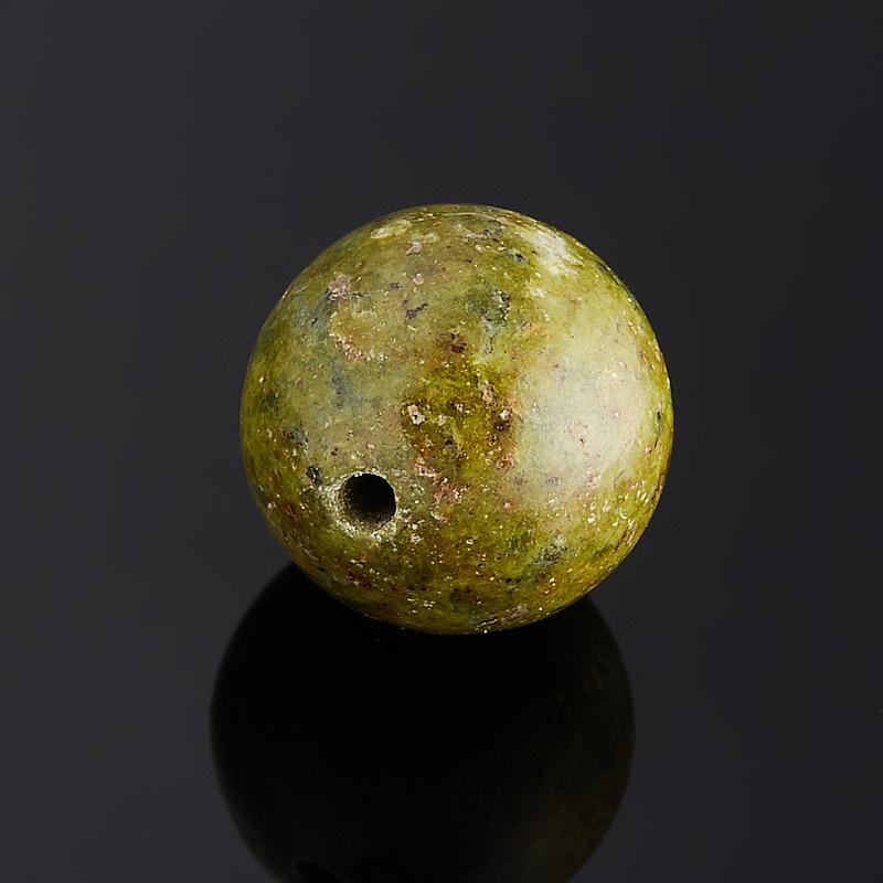 Бусина унакит шарик 10-10,5 мм (1 шт)