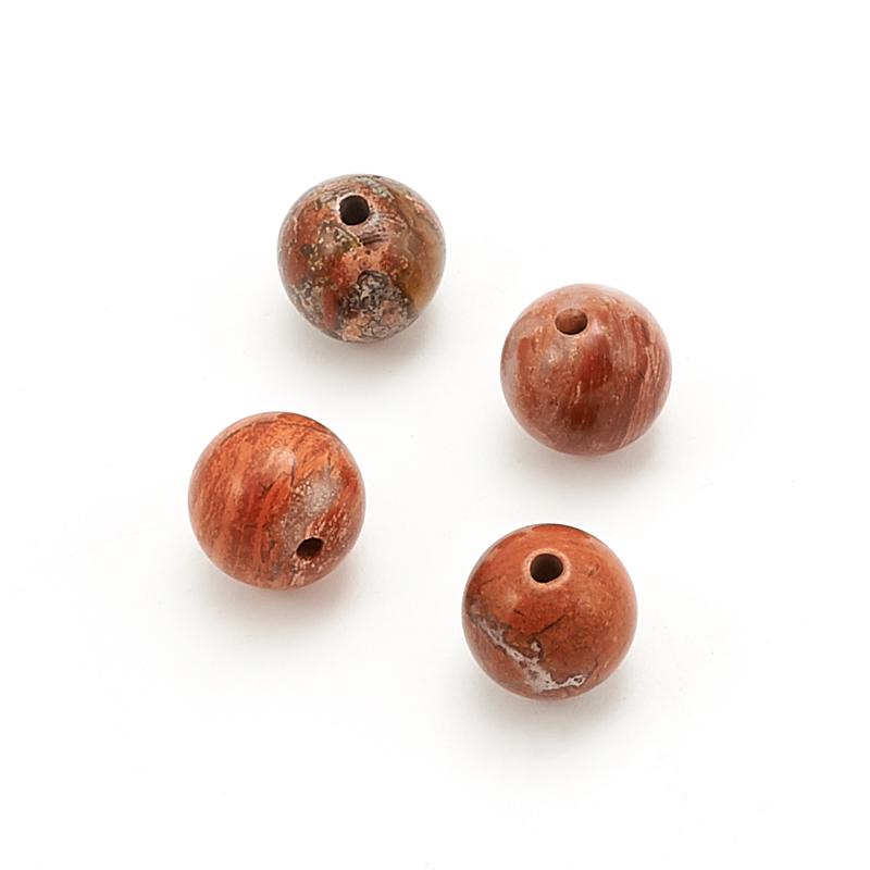 Бусина яшма брекчиевая шарик 8 мм (1 шт) бусина малахит шарик 8 мм 1 шт