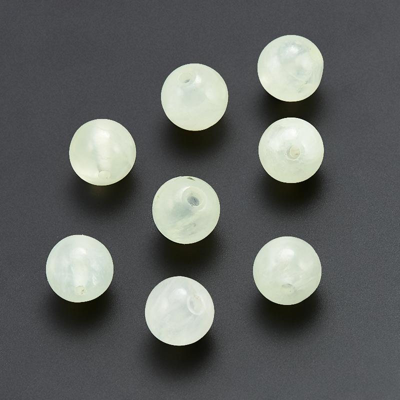 Бусина пренит  шарик 7 мм (1 шт) бусина авантюрин зеленый шайба 6 6 5 мм 1 шт