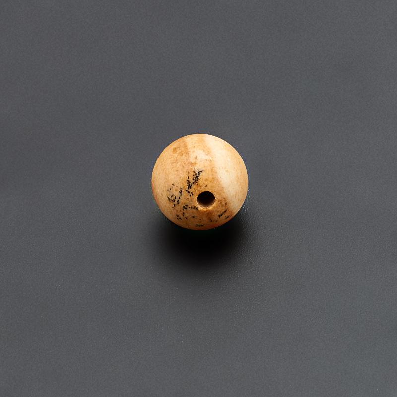 Бусина яшма рисунчатая  шарик 7 мм (1 шт) бусина авантюрин зеленый шайба 6 6 5 мм 1 шт