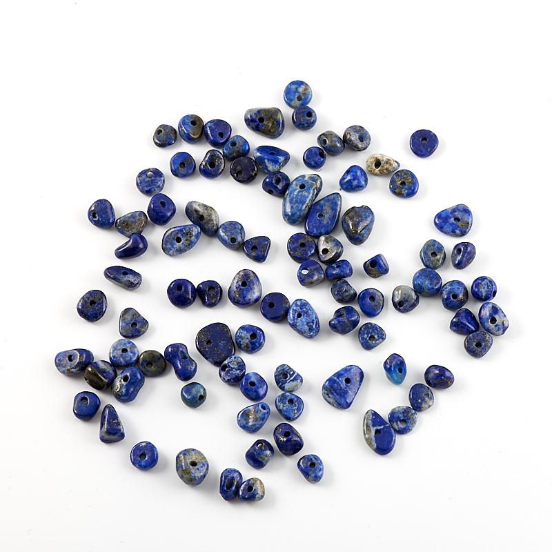 Бусина лазурит  галтовка 5 мм (1 шт) бусина сердолик светлый прозрачный сплюснутый шар 6 5 мм 1 шт