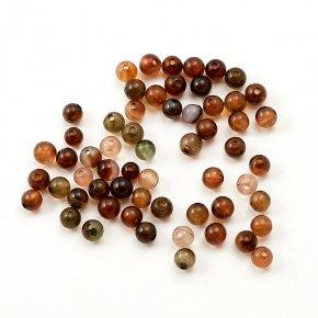 Бусина агат коричневый Ботсвана шарик 3,5 мм (1 шт)