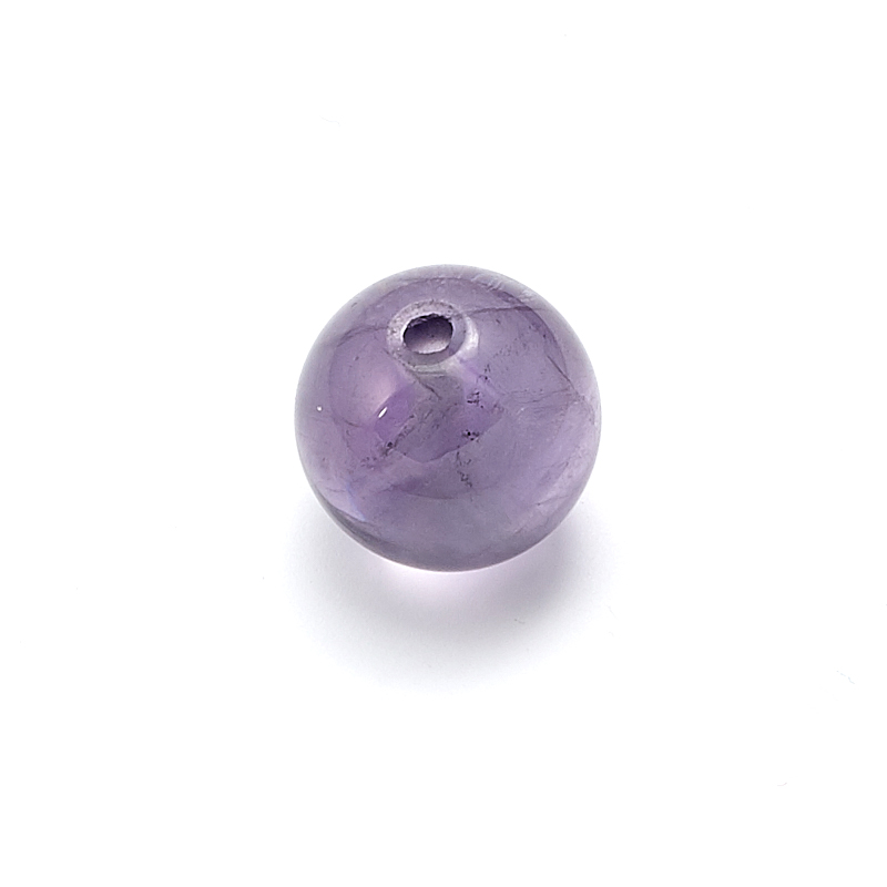 Бусина флюорит фиолетовый шарик 12 мм (1 шт) бусина авантюрин зеленый шайба 6 6 5 мм 1 шт