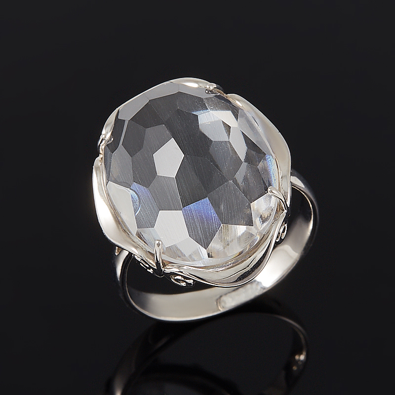 Кольцо горный хрусталь огранка (серебро 925 пр.) размер 17 жен стерлинговое серебро хрусталь стразы кольца для пар кольцо круглый бижутерия любовь свадьба серебряный кольцо назначение