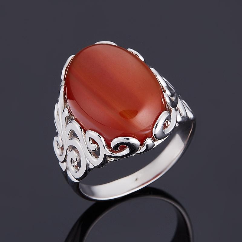 Кольцо агат красный (серебро 925 пр.) размер 18,5 серьги агат серый серебро 925 пр