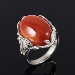 Кольцо агат красный Ботсвана (серебро 925 пр.) размер 17,5