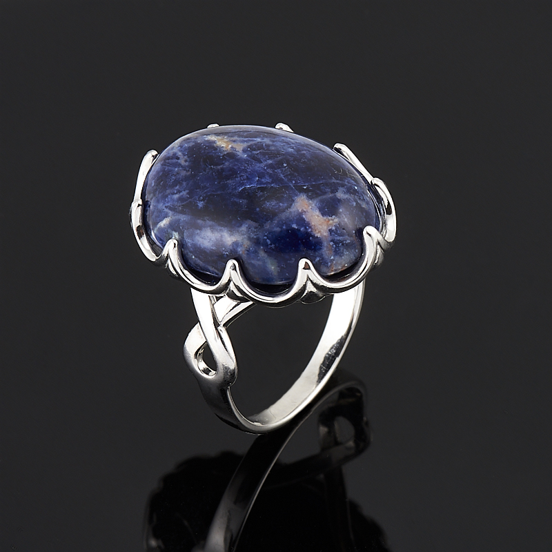 Кольцо содалит Бразилия (серебро 925 пр.) размер 18,5
