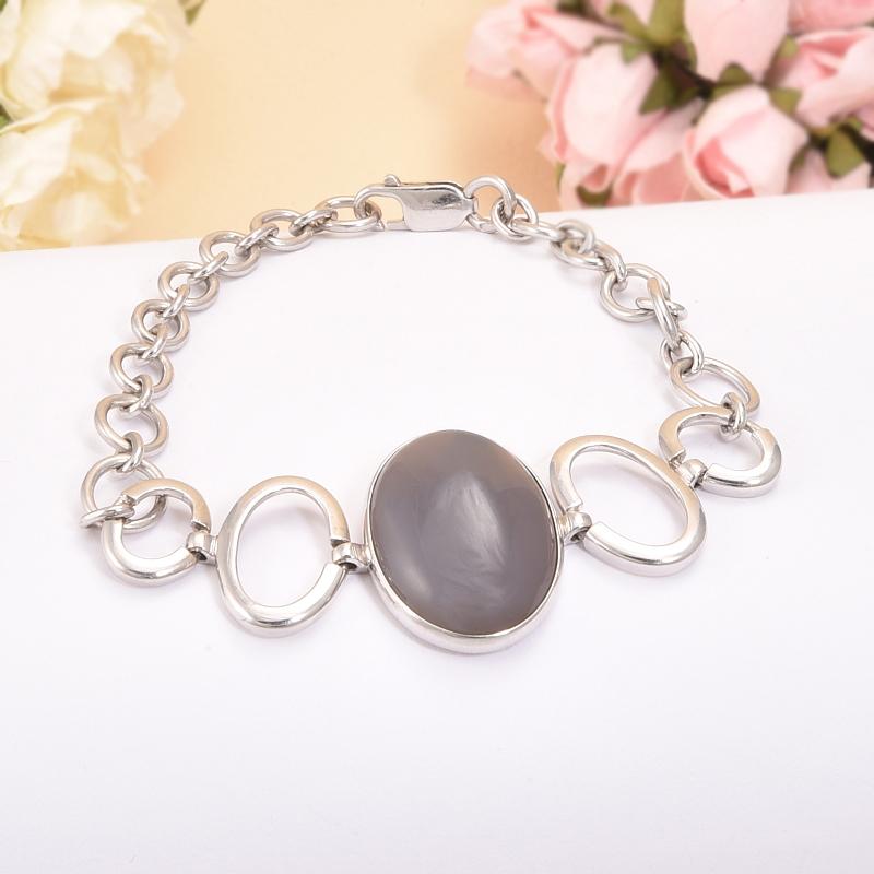 Браслет агат серый 20 см (серебро 925 пр.) браслет лилула агат бп6669