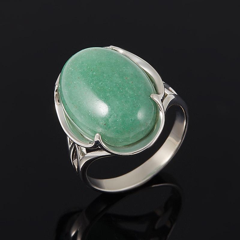 Кольцо авантюрин зеленый  (серебро 925 пр.) размер 17,5 кольцо капель авантюрин