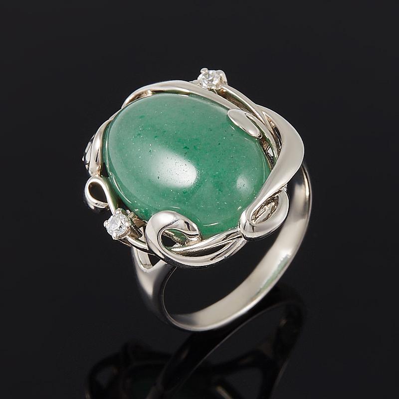 Кольцо авантюрин зеленый  (серебро 925 пр.) размер 19 кольцо капель авантюрин