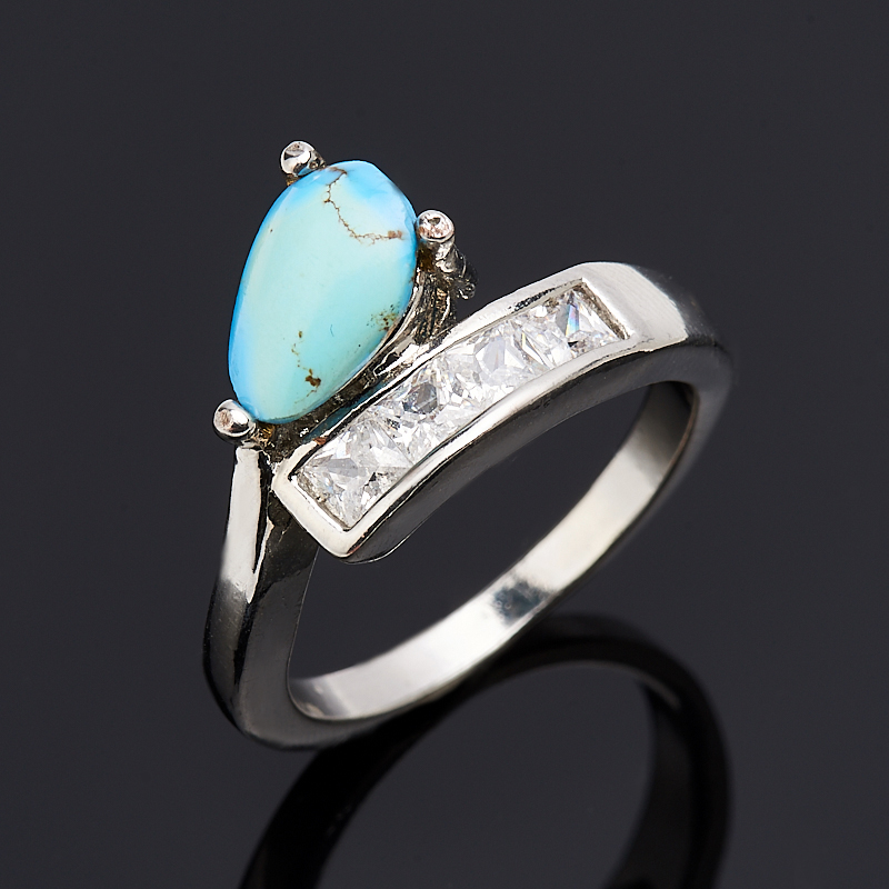 Кольцо бирюза (биж. сплав) размер 18 кольцо mistery биж сплав страз