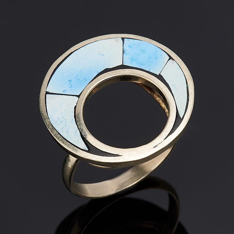 Кольцо бирюза Казахстан (нейзильбер) размер 19,5