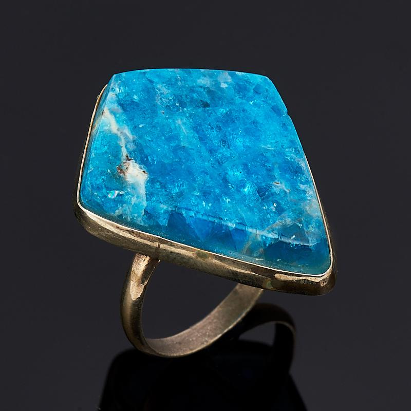 Кольцо апатит синий (дублет) Россия (нейзильбер) размер 18