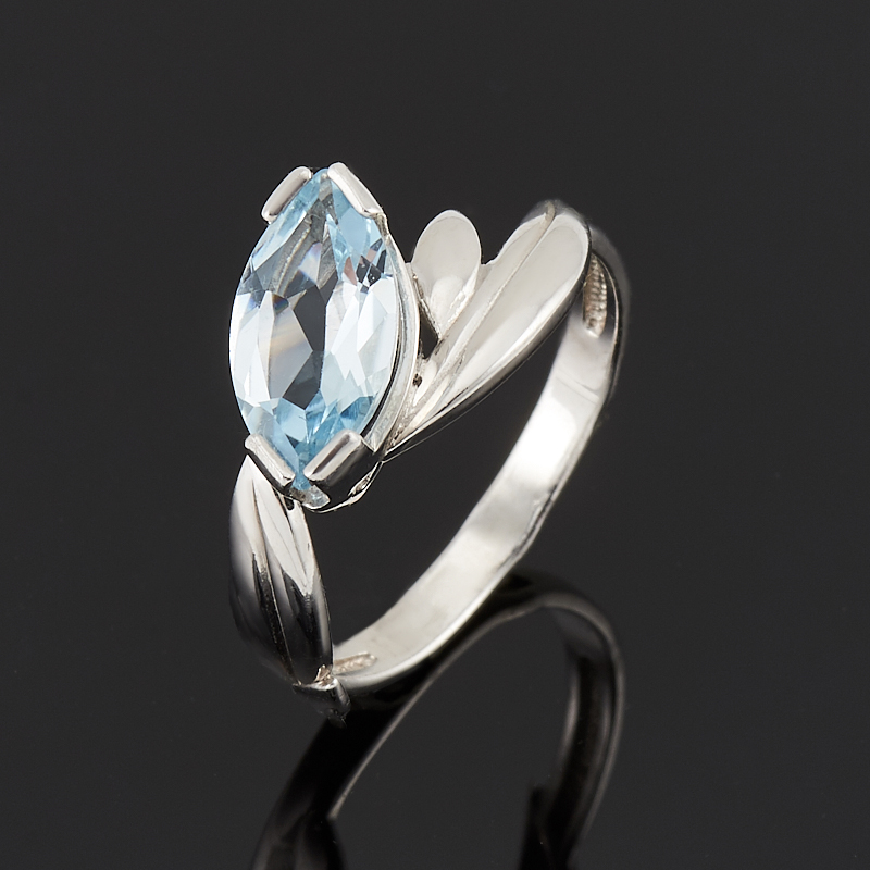 Кольцо топаз голубой огранка (серебро 925 пр.) размер 18 кольцо коюз топаз кольцо т100619027