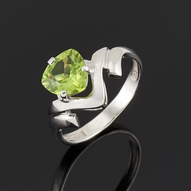 Кольцо хризолит огранка (серебро 925 пр.) размер 17,5 panasonic es 3042