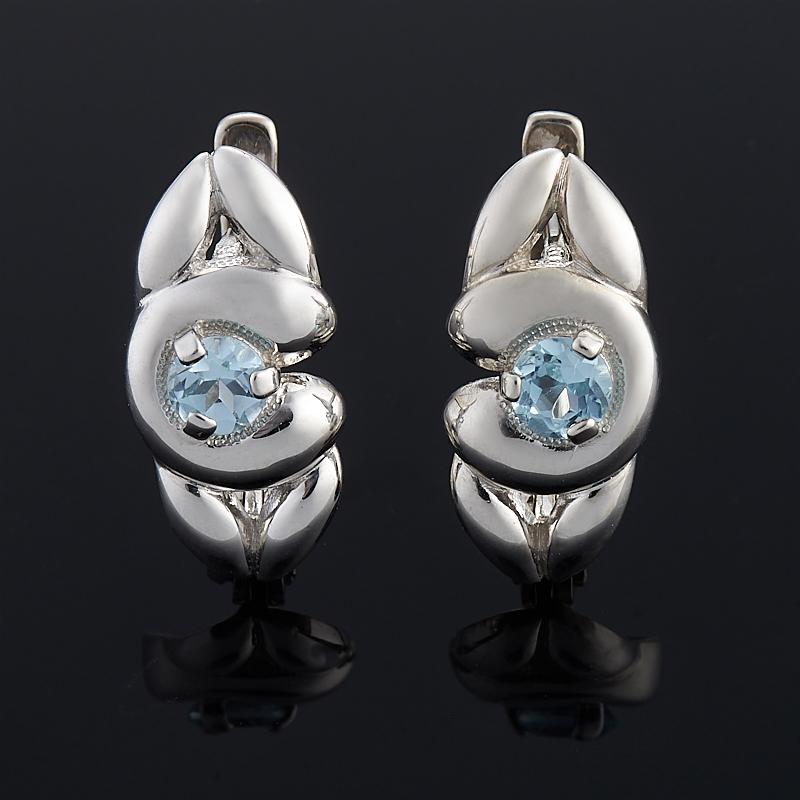Серьги топаз голубой огранка (серебро 925 пр.) серьги коюз топаз серьги т141024790