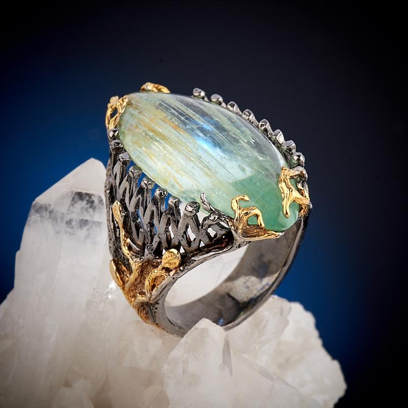 Кольцо аквамарин (серебро 925 пр., позолота) размер 18,5 кольцо аквамарин серебро 925 пр позолота размер 18