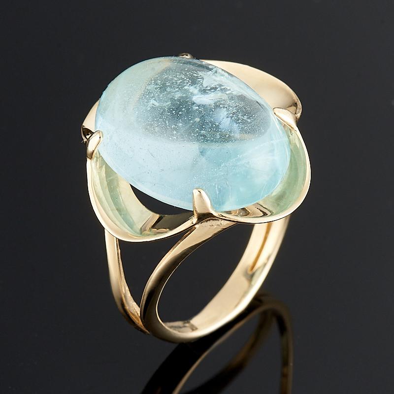 Кольцо аквамарин  (золото 585 пр.) размер 17,5