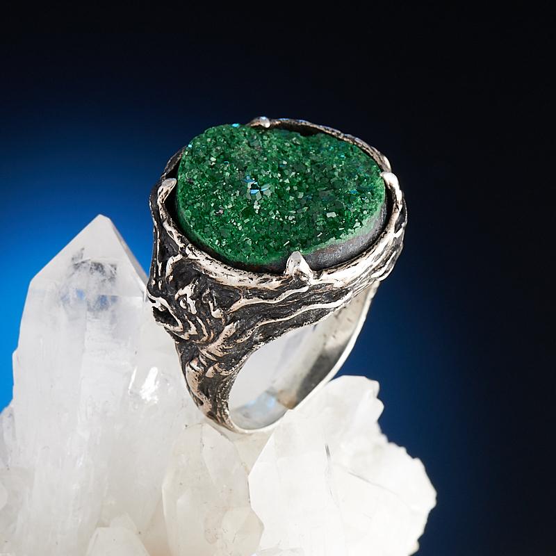 Кольцо уваровит  (серебро 925 пр.) размер 18,5